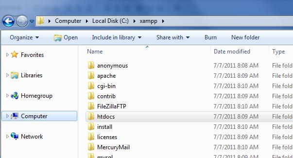 Xampp for windows 7 version provides an easy to install apache-mysql-php-perl-pear framework