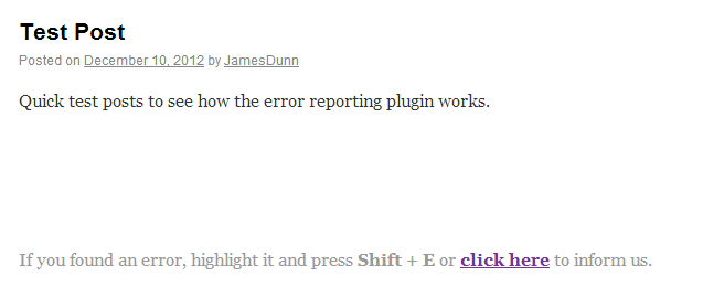 WordPress-Error-Reporting-Plugin-Example-Of-Error-Reporting-In-Use