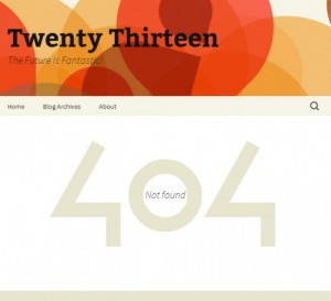 Страница 404 в теме Twenty Thirteen