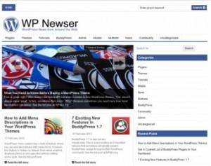 WPNewser.com - сайт для тестирования агрегации новостей