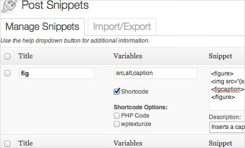 Post Snippets плагин для WordPress упрощает работу со сложной разметкой