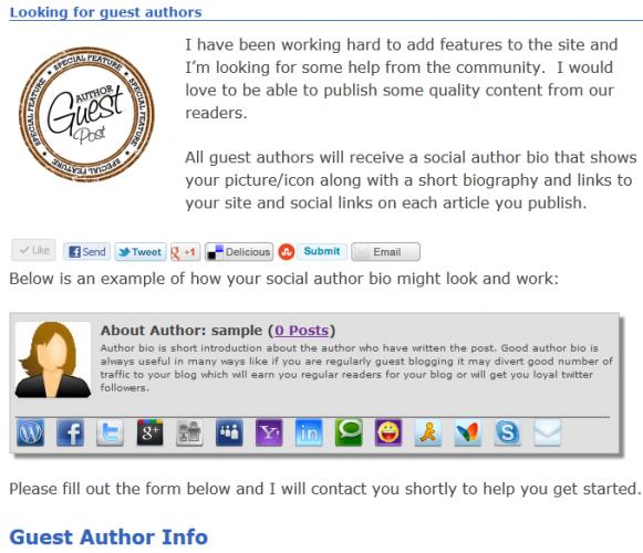 Social-Author-Bio