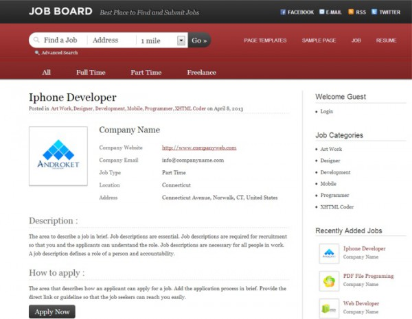 templaticjobboard-single-job-page