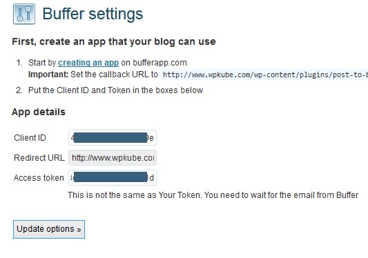 Buffer-Settings