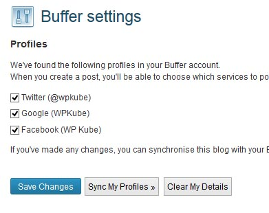 Buffer-settings-profiles