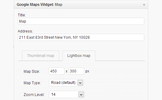 google-maps-widget-settings