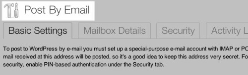 PostByEmail