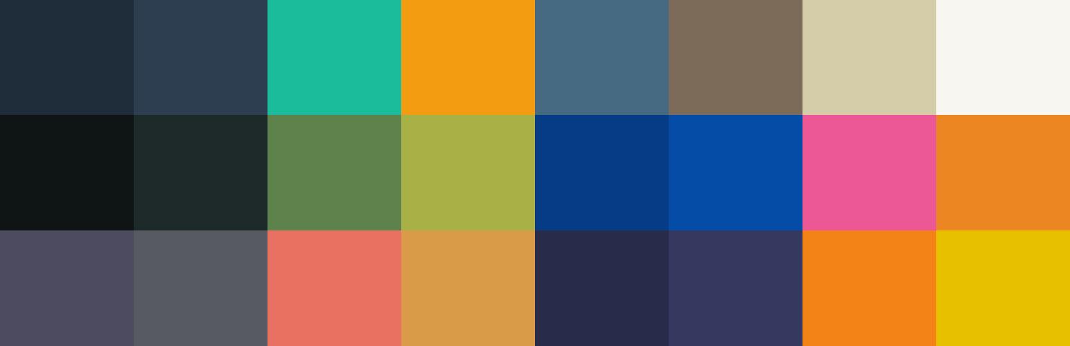 с 8 различными цветовыми