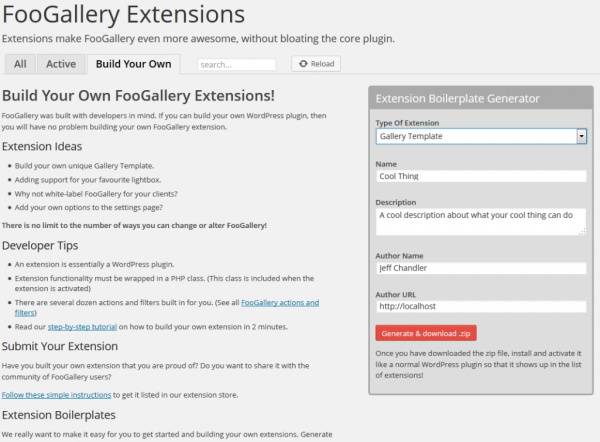 FooGalleryExtensionBoilerplate