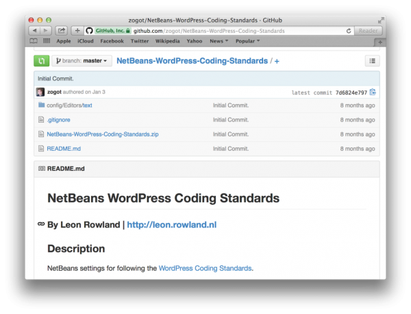 netbeans-wordpress-coding-standards
