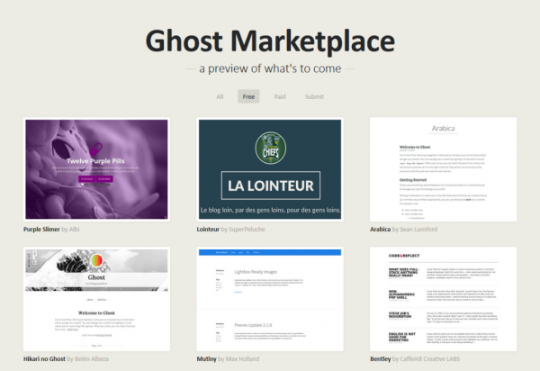 GhostThemeMarketplace