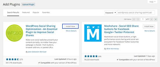 WordPress-Social-Sharing-Optimization-Installation