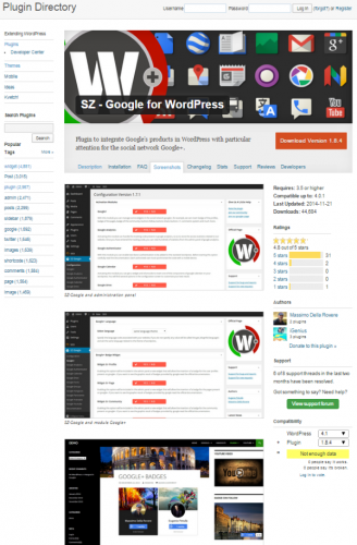 SZ-Google-for-WordPress