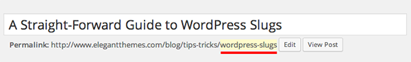 WordPress-Slugs-first-example