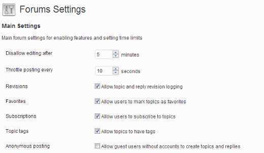 bbpress-forum-settings