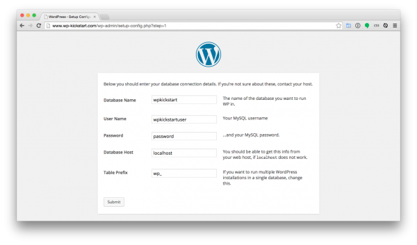 WordPress-install-database-credentials