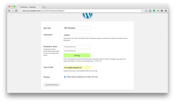 WordPress-install-website-configuration