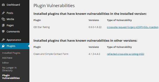 plugin-vulnerabilities-list