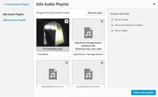 playlist-settings