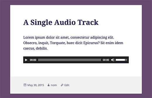 single-audio-track