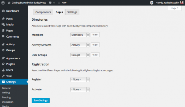 buddypress-pages-settings-tab