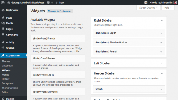 buddypress-sidebar-header-widgets