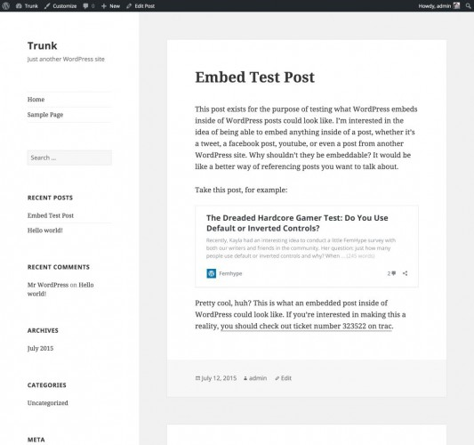 wordpress-oembed