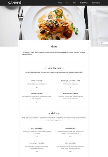 Canape-menu