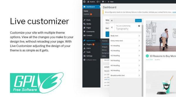 Monstroid 2 Live Customizer