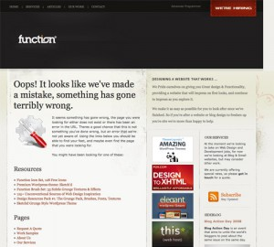 Грамотно оформленная страница 404