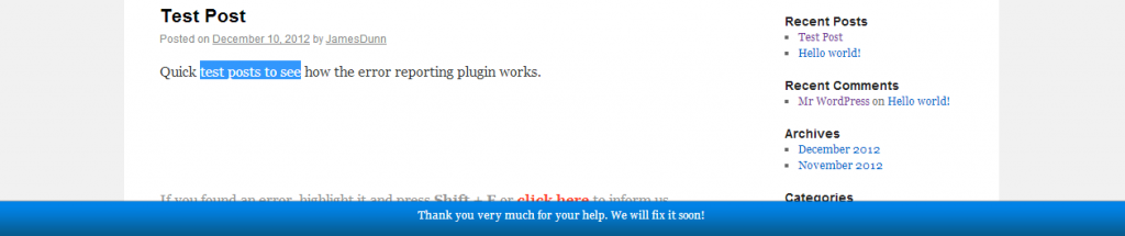 WordPress-Error-Reporting-Plugin-Error-Reported-Thank-You-Message-1024x215