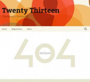 Страница 404 в теме Twenty Thirteen