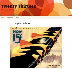 Главная страница темы Twenty Thirteen