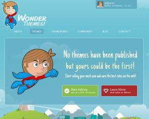 Скриншот сайта в бета-версии, когда на нем не продавалась еще ни одна тема