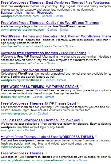 Список бесплатных тем для WordPress