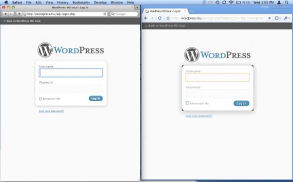 Safari и Windows Chrome, запущенные бок о бок для тестирования