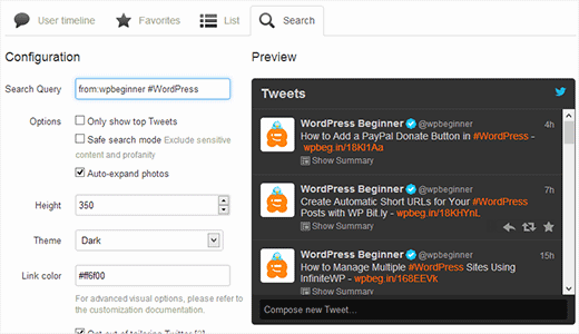 selective-tweets
