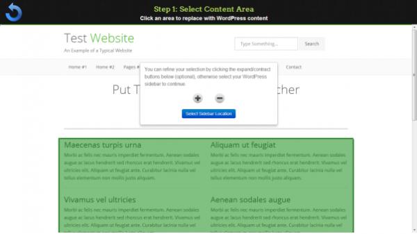 Определяем область контента для новой WordPress темы