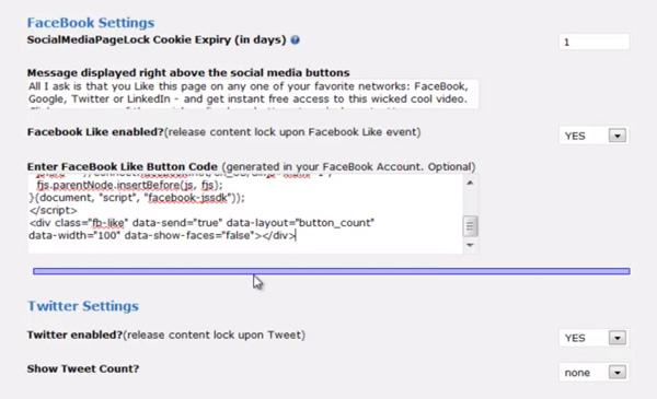 social-media-pagelock-settings