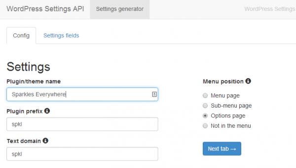 settings-generator