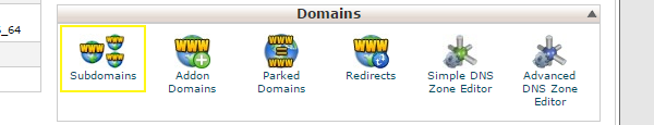 subdomain-button-in-cpanel