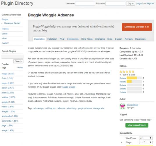 Boggle-Woggle-Adsense