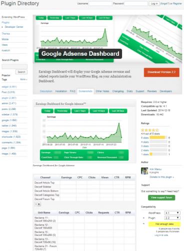 Google-Adsense-Dashboard
