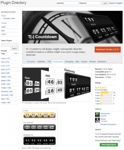 WordPress-T-Countdown