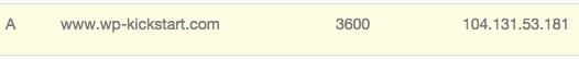 WordPress-install-DNS-record