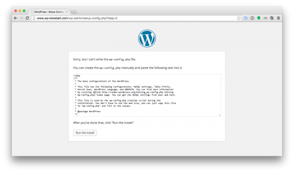 WordPress-install-configphp