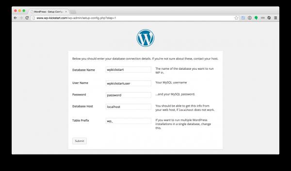 WordPress-install-database-credentials