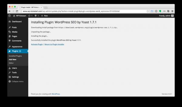 WordPress-install-plugin-installed