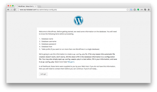 WordPress-install-welcome