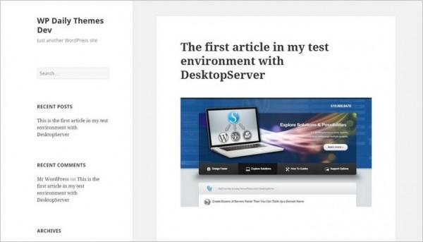 WordPress-DesktopServer-Article